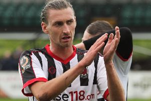 Dale Whitham scored in the win over Leek Town in the last round of the FA Cup