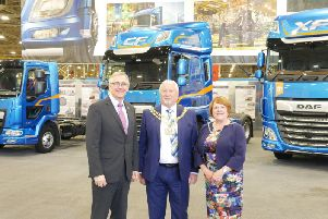 Peter Jukes, Operations Director, Leyland Trucks hosting the Mayor and Mayoress of South Ribble