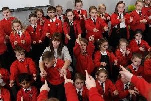 St Gregory's primary school sign language choir perform a Christmas concert at Integrate
