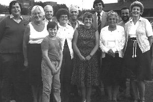 Barbara Heaps with her family. The long-time Chorley FC supporter has died