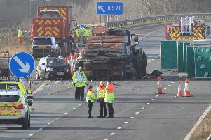 The aftermath of the M58 pile-up
