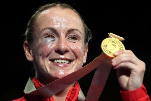 Lisa Whiteside after winning Commonwealth Games gold