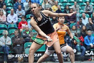Laura Massaro pictured in third-round action against Hong Kong's Annie Au (photo: PSA)