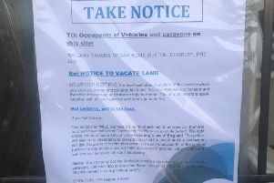 The notice served to travellers