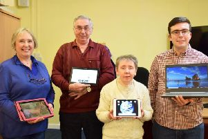 Learners and volunteers from the sessions at the Age UK Lifestyle Centre in Chorley.