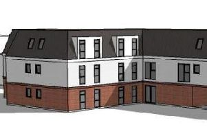 Computer generated image of the planned apartment block (Image: Design Studio Architects Limited)