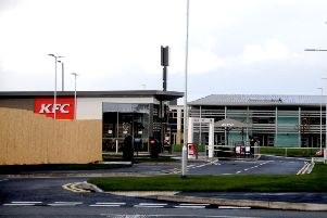 The new KFC in the foreground of Trinity CE Methodist Primary School (Images: JPIMedia)