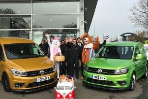 Swansway Preston donate Easter eggs to families