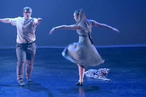 David Corr, 21 from Chorley, and Jessica Reid, 16 from Preston performing their dance duet, Los(T)