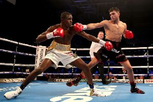 Jack Catterall (right) in action against Ohara Davies last year