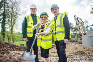 The official ground breaking at the new retirement complex on the former Pines Hotel site in Chorley