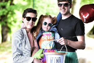 Roisin with Michael and daughter Ivy at a recent fundraiser.