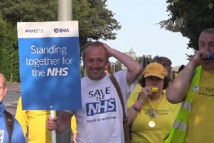 """James Corbett says he was """"humbled"""" by the reception he received outside Chorley Hospital"""