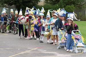 Children from Ingol CP school get in the Preston Guild party mood
