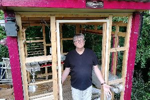 Peter Gammon has been forced to pull down his railway-themed shed...