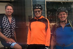 Phil Alcock, Mick Howarth, and Frank Towers are cycling 2,000 miles from Denver, Colorado, to Hamilton, Ontario, in Canada for Chorley Hospital's dementia and stroke ward