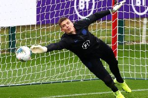 Burnley goalkeeper Nick Pope gets to grips with life back at St George's Park with the England squad