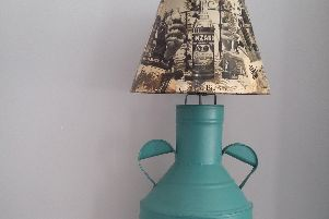 This lamp has been given a new lease of life