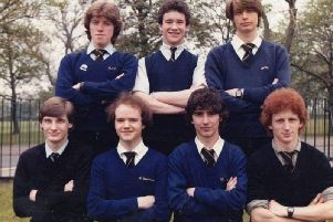 A snap of some of the students who attended the former St Theodore's RC High School sixth form in the 1980s.