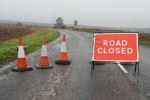 A number of roads have been closed due to Storm Ciara