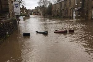 Devastating scenes in Whalley. Picture by Cathryn Hurst