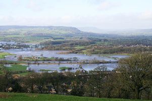 Floods viewed from Whalley Nab. Picture by Richard Crossley