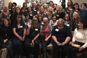 The class of '79 from the former Burnley Girls' High School at their reunion.