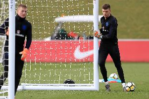 Nick Pope during England training.