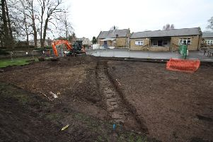The multi-use games area for the local community is being built in an area close to Whalley Abbey and Whalley CE Primary School.