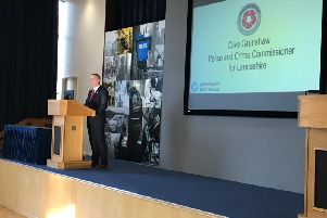 Lancashire's Police and Crime Commissioner, Clive Grunshaw, at the event.
