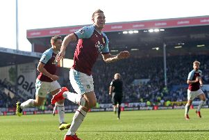 Chris Wood celebrates his opener against Spurs