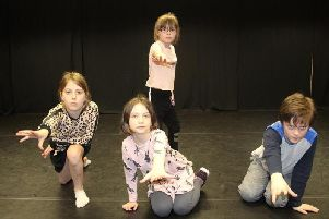 Three cast members rehearsing The Wishing Tree, which is to be presented by Burnley Youth Theatre this month. (s)