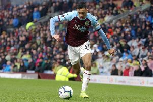 Burnley's Dwight McNeil''Photographer Rich Linley/CameraSport''The Premier League - Burnley v Leicester City - Saturday 16th March 2019 - Turf Moor - Burnley''World Copyright � 2019 CameraSport. All rights reserved. 43 Linden Ave. Countesthorpe. Leicester. England. LE8 5PG - Tel: +44 (0) 116 277 4147 - admin@camerasport.com - www.camerasport.com