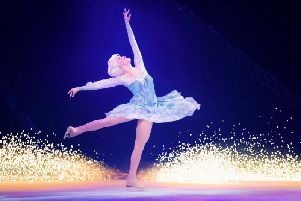 The ice was transformed into the wintry world of Frozen.