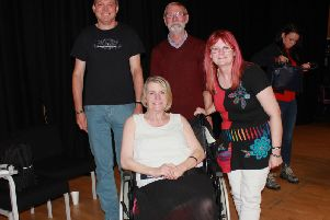 From left, Martin Charlton and Garry Gluyas, with Sophies mum Sylvia Lancaster and journalist Catherine Smyth.
