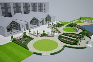 CGI of how the exterior of the hotel will look
