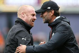 Burnley boss Sean Dyche and Liverpool's Jurgen Klopp