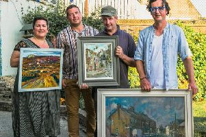 This years judge Adam Ralston, pictured  third from left, at last years event'''...