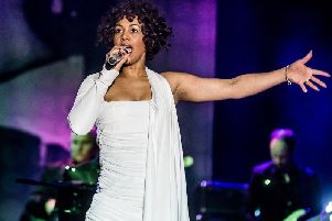 Elesha Paul Moses as Whitney Houston in touring production of Whitney-Queen of the Night