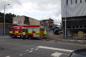 Firefighters are at the scene. Picture by Geoff Sherwood