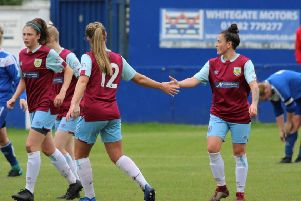 Priestley hits a hat-trick in Clarets' Lancashire Cup romp