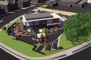How the proposed new McDonald's in Chesterfield could look.