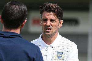 Eastleigh boss Ben Strevens. Pic credit: Getty Images.