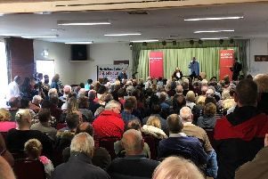 Hundreds of Labour Party members turned out to meet Jeremy Corbyn in Clay Cross.