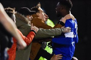 Mike Fondop came off the bench to score two goals to fire Chesterfield to victory against AFC Fylde.
