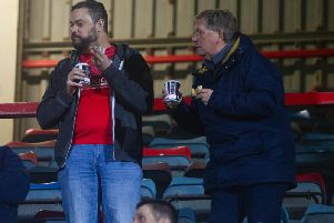 These Spireites fans watched their team lose 1-0 at Wrexham in the FA Cup last night.