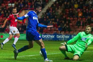 Wrexham beat Chesterfield 1-0 in the FA Cup fourth qualifying round last night.