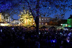 Crowds at last year's Christmas lights switch-on in Chesterfield