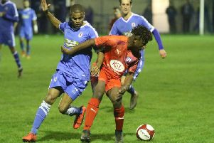 Pictures from Chesterfield's Derbyshire Senior Cup tie at Glossop. Pic by Jason Chadwick.