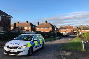 Police on Norwood Crescent in Killamarsh.